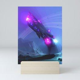 Cruiser - Cyan Mini Art Print