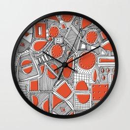 RAZZ BW TOMATO Wall Clock