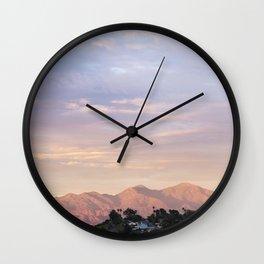 Sunset over Saddleback Mountain Wall Clock