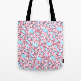 Kawaii Axolotl Pastel Chido Pink Tote Bag