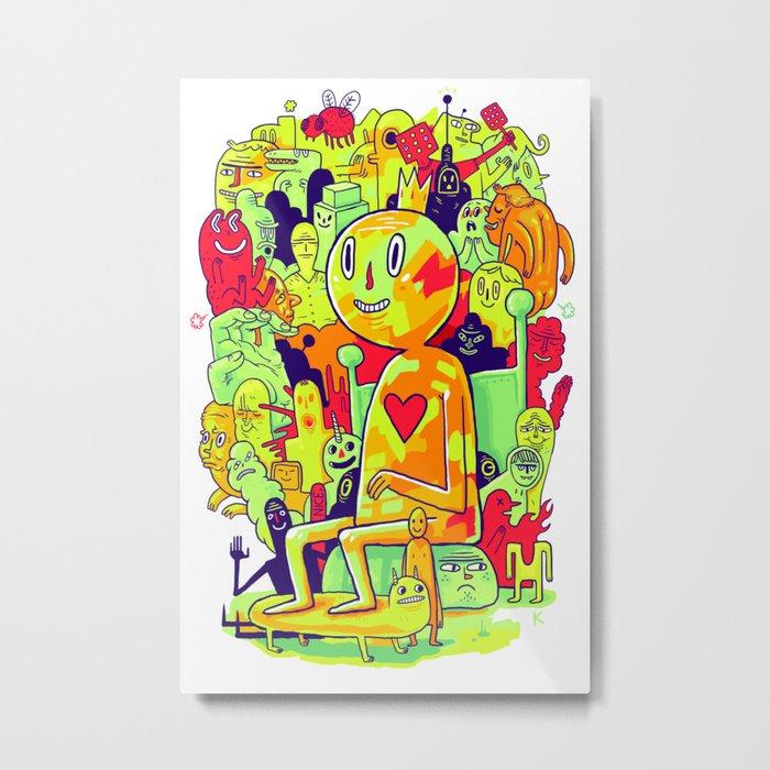 Knee-Jerk Metal Print