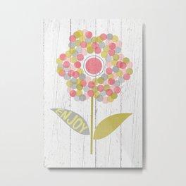 Dot Flower Metal Print