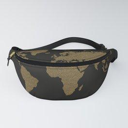 Golden world map Fanny Pack