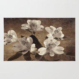 Vintage Flowers Digital Collage 19 Rug