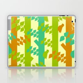 Birds and tree trunks Laptop & iPad Skin