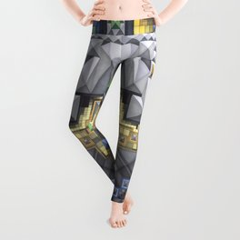 'Abstract pattern 8 (cityscape)' Leggings