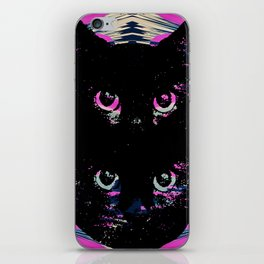 Black Cat Rising iPhone Skin
