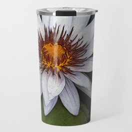 White Water Lily Travel Mug
