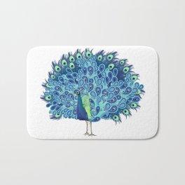 Peacock - Green and BLUE Bath Mat