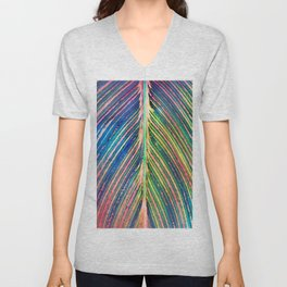 503 - Canna Leaf Abstract Unisex V-Neck