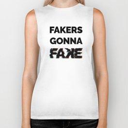 Fakers Gonna Fake Glitch (Shake It Off lyrics) [light] Biker Tank