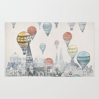 school Area & Throw Rugs featuring Voyages over Edinburgh by David Fleck