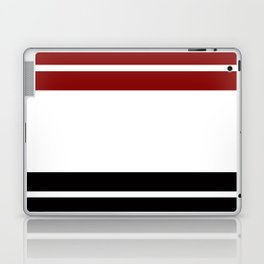 TEAM COLORS 9 .... Maroon, black and white Laptop & iPad Skin