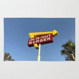Retro burger Rug