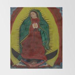 La Virgen De Guadalupe Throw Blanket