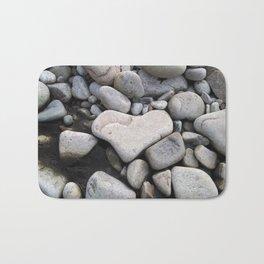 Heart Shaped Rock Bath Mat