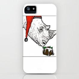 Christmas Rhino iPhone Case