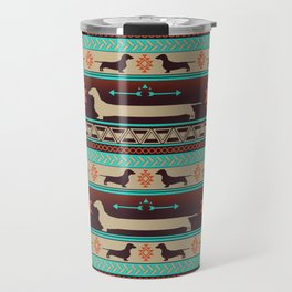 Boho dogs | Smooth Dachshund sunset Travel Mug