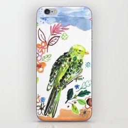 Clancy the Parakeet iPhone Skin