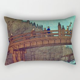 Beautiful Evening Across The Bridge Rectangular Pillow