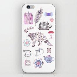 Raccoon, Castle + Ship iPhone Skin