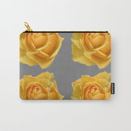 FOUR YELLOW ROSES OF TEXAS ON GREY Carry-All Pouch