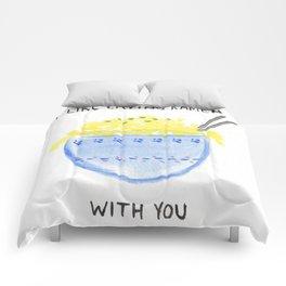 I Like Eating Ramen (With You) Comforters