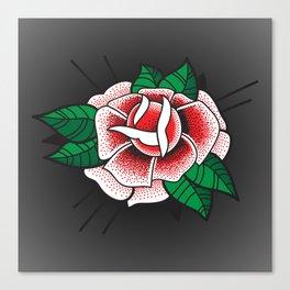 Tattoo Rose Canvas Print