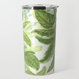 Blue Wildflower Watercolor Travel Mug