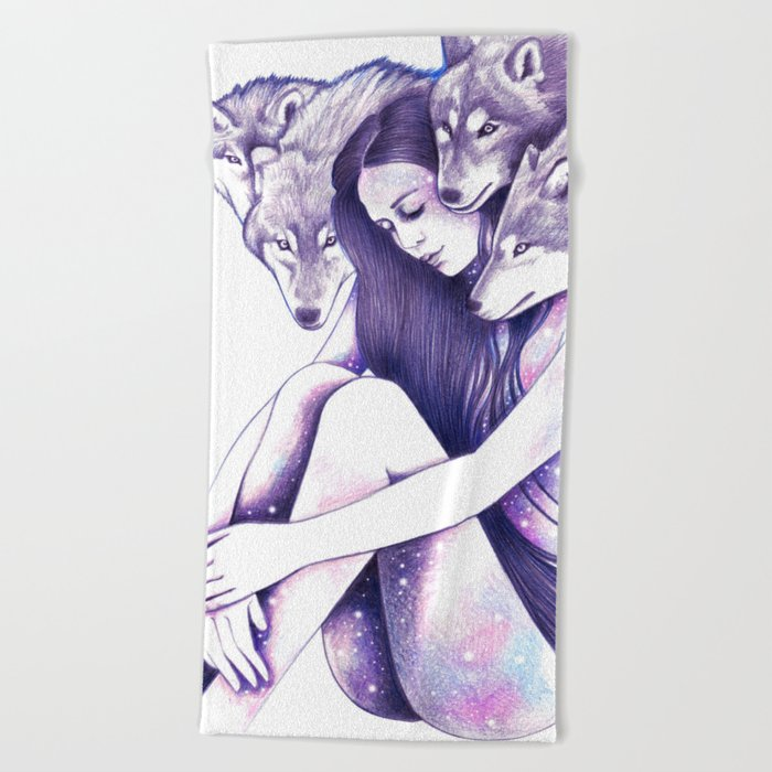 Raised By Wolves Beach Towel