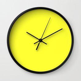 Australian Great Barrier Reef Neon Yellow Sergeant Major Fish Wall Clock