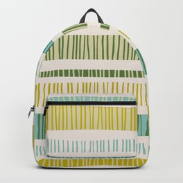Lime Stripes Backpack