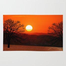 Desert Sunset Landscape Rug