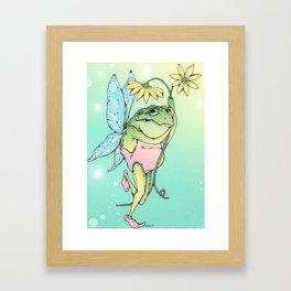 Frog Fairy Framed Art Print