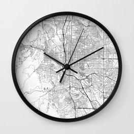 Colorado Springs Map Line Wall Clock