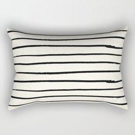 Horizontal Ivory Stripes II Rectangular Pillow