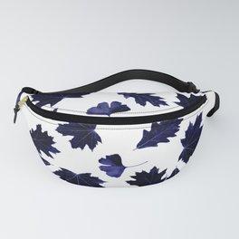 Indigo Blue Sun-Dyed Leaves Fanny Pack