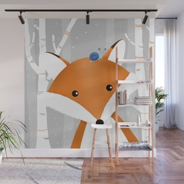 Fox and snail Wall Mural