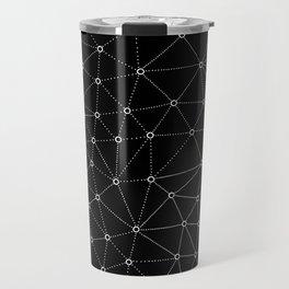 African Triangle Black Travel Mug