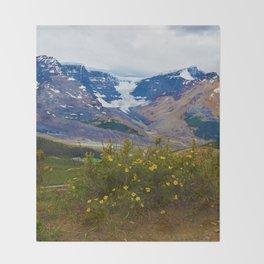Athabasca Glacier in Jasper National Park, Canada Throw Blanket