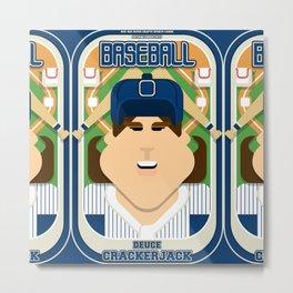 Baseball Blue Pinstripes - Deuce Crackerjack - June version Metal Print