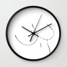 Minimal line drawing Wall Clock