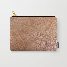 Floral copper Carry-All Pouch