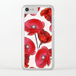 the poppy Clear iPhone Case