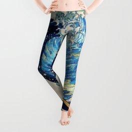 Starry (Great Wave) Night Leggings