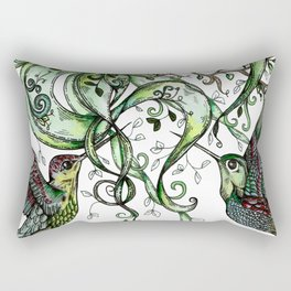 Hummingbird Garden Party Rectangular Pillow