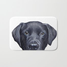 Labrador with white background Dog illustration original painting print Bath Mat