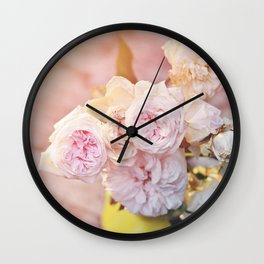 The Last Days of Spring - Old Roses II Wall Clock