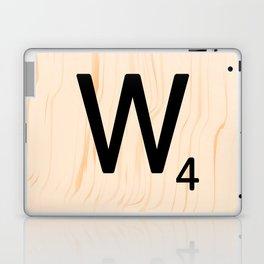 Scrabble Letter W - Scrabble Art and Apparel Laptop & iPad Skin