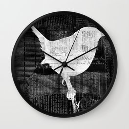 Paper Bird Wall Clock